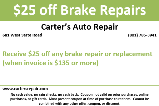 Carter'S Auto Repair >> Discounts Deals Carter S Auto Repair